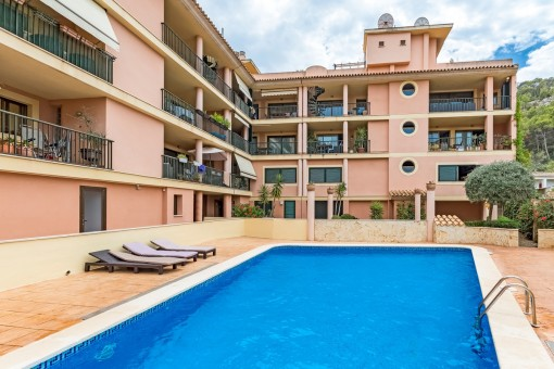 Practical apartment on the edge of the town centre of Puerto Andratx