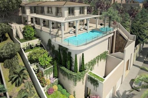 Luxury villa with sunset-guarantee in Puerto Andratx