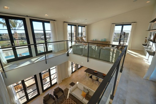 The modern design offers exceptional light and spaciousness