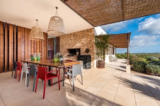 Mediterranean-style terrace