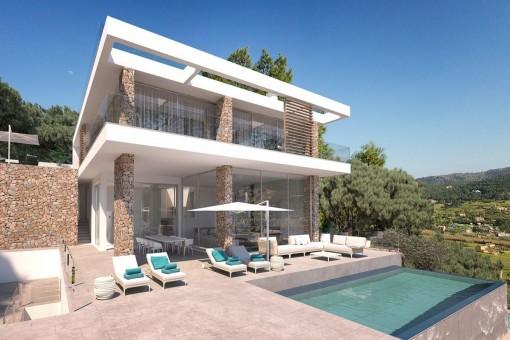 Contemporary villa project in Port Andratx
