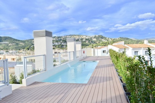Penthouse apartment with 2 private terraces and 3 bedrooms in Port Andratx