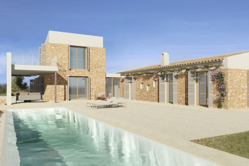 Newly-built finca project in Sineu, key-in-hand, in a quiet location with south-east orientation