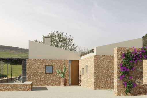 New finca project, key-in-hand, in an elevated location with beautiful views of the countryside in Sineu