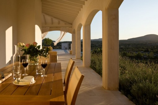 Dining area with lovely views