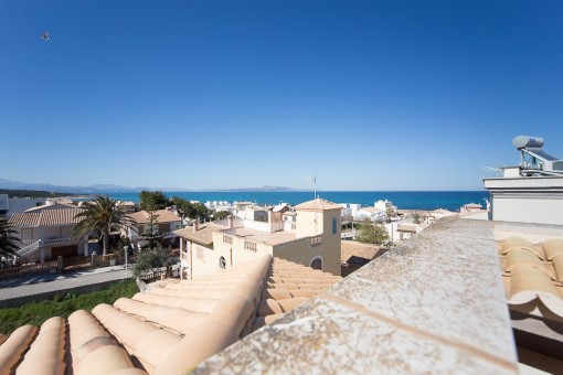 Spacious newly built villa with sea views, close to Son Serra de Marina beach.