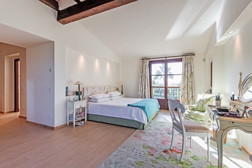 Master bedroom with unique views