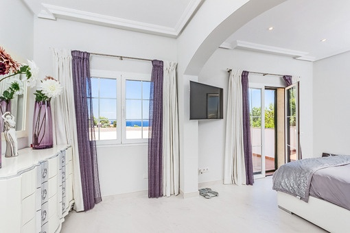 Bedroom with fantastic sea views