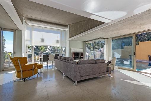 Futuristic living area
