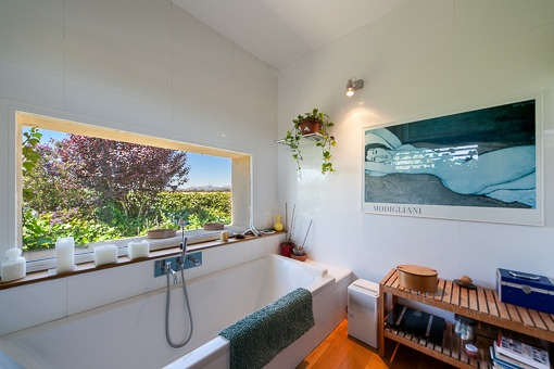 Bathroom with fantastic view from the bath tub