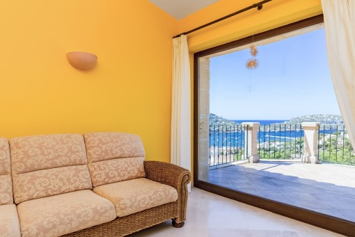 Panoramic views form the master bedroom