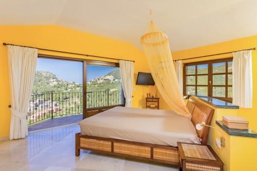 Spacious master bedroom with nice views
