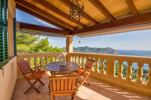 Impressive mediterran sea views from the balcony