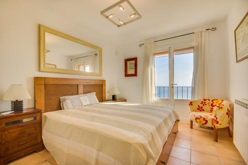 Bedroom with mediterran sea views