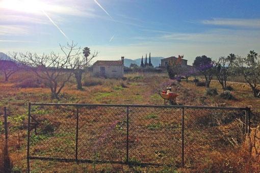 Tomt med projekt mellan Alcúdia och Pollença med fantastisk utsikt över Tramuntanabergen