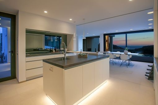 Balearic sea views from the kitchen