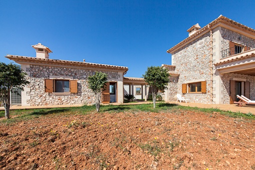 Views from the garden to the natural stone finca