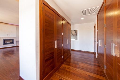 Bedroom with built-in closet