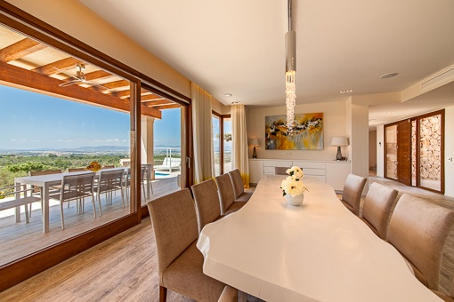 Inviting dining area with nice views