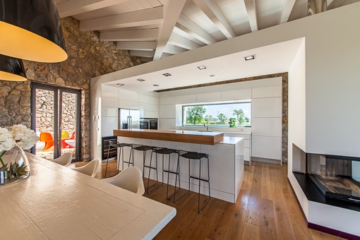 Modern and open kitchen