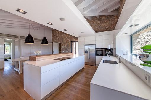 Modern Bulthaupt kitchen with large windows