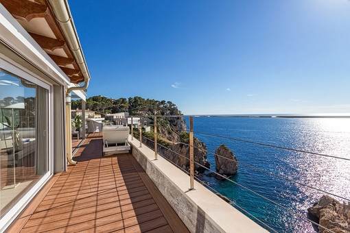 Spacious terrace with unique sea views