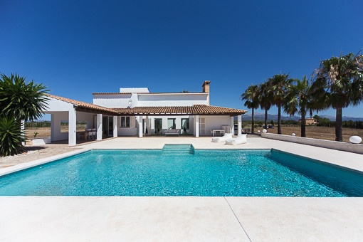 Sunny pool area