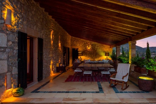 Idyllic lounge area