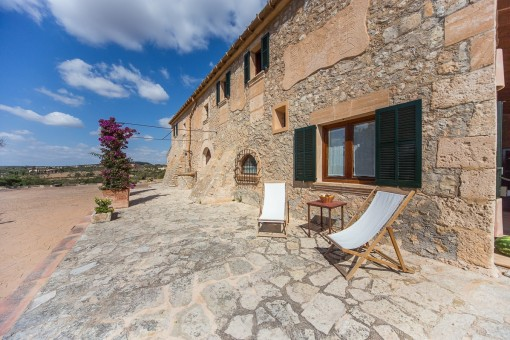 Terrace invites for a sun bath