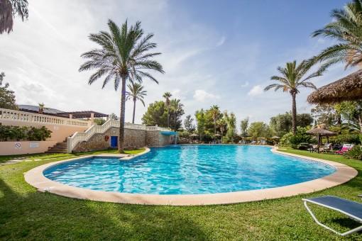 Inviting comunity pool area