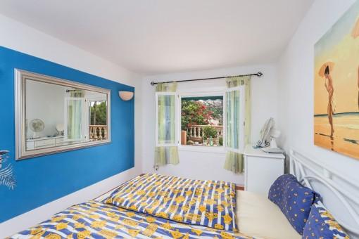 Bedroom with idyllic mountain views