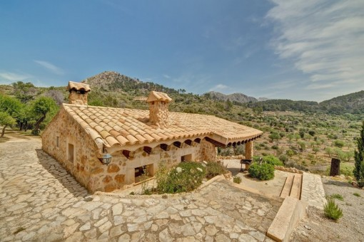 Views from the finca to the natural stone finca