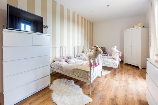 Children's room with two beds