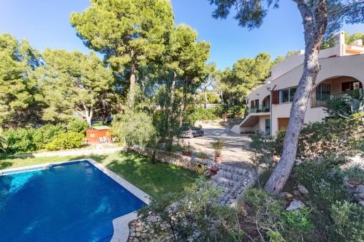Stort hus som står på två tomter, med separat gäststudio i Costa de la Calma