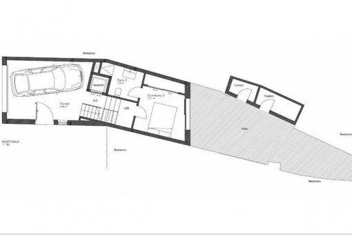 Plan with garage