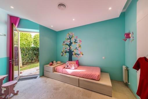 Children's room with garden access