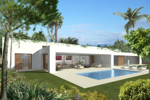 Spacious, luxurious, modern villa built on one level in Sol de Mallorca