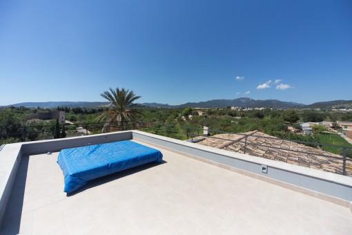 Unique landscape views from the roof terrace
