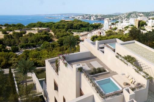 Magnificent penthouse overlooking the sea in the desirable neighborhood of La Bonanova