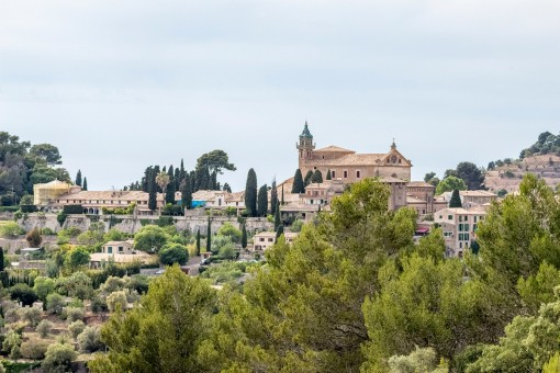 Views over Valldemossa from the finca