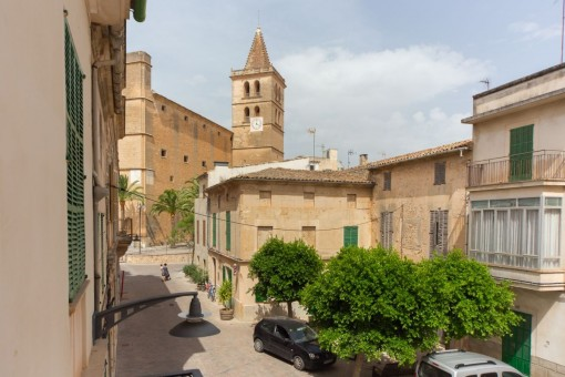 Unique town house with views of the church in Porreres