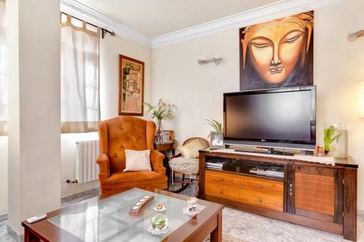 TV-Corner in the living room