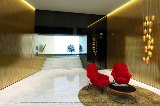 Elegant entrance area with lounge