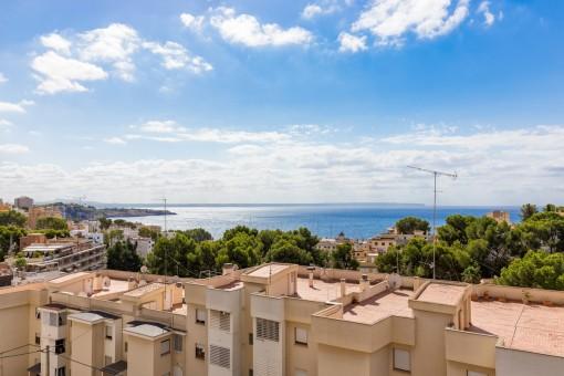 Beautiful sea views from the balcony