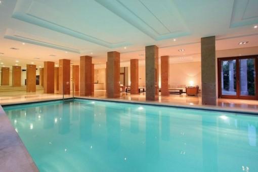 Impressive indoor pool
