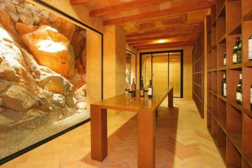 Beautiful wine cellar
