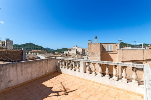Sunny terrace with views on the Tramuntana
