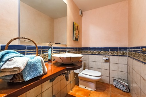 Small bathroom with tiles