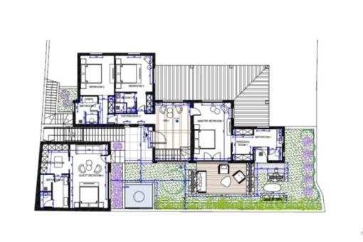 Floor plan of the upper floor