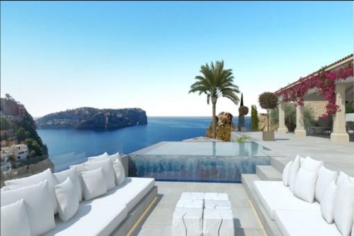 Spacious, luxurious villa in Port d' Andratx with wonderful sea views